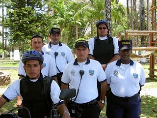 A few members of the Tourism Police Force
